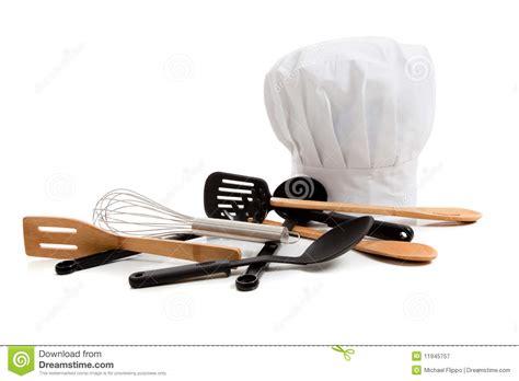 toque cuisine chef 39 s toque with various cooking utensils stock image