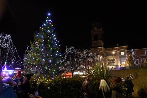 it s officially christmas in derby as the lights are