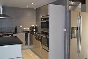 cuisine avec frigo americain maison collection avec frigo With frigo americain dans cuisine equipee