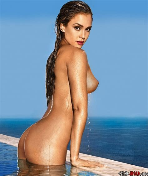 Jessica Alba Shows Off Her Postpregnancy Nude Tits And Ass