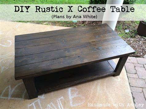 diy rustic  coffee table plans  ana white handmade
