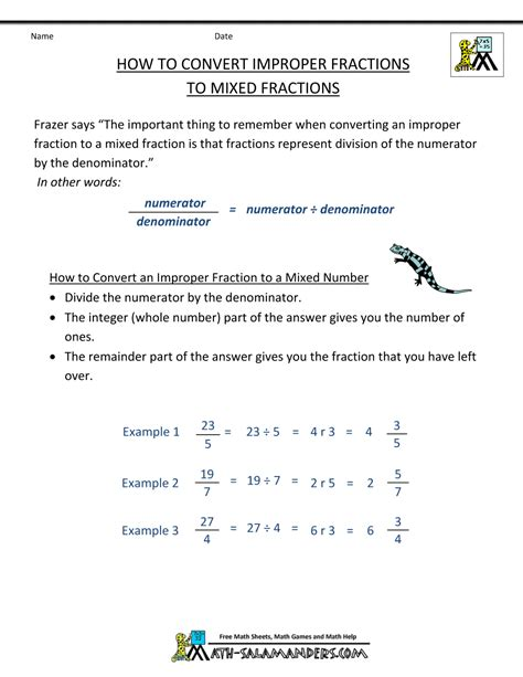 Convert Improper Fraction