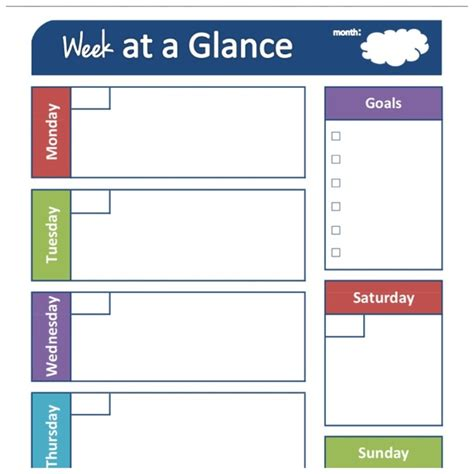week at a glance calendar pin by kelley miller on kid stuff pinterest