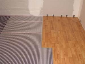 plancher chauffant electrique ecofilm set 85w m2 With chauffage au sol sous parquet flottant