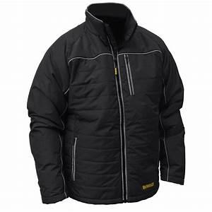 DEWALT Mens Extra Large Black Quilted Polyfil Heated