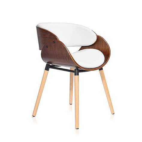 Makika Chaise Design Rétro  Belle En Blancbrun Bureau