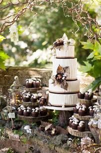 rustic chic wedding woodland themed wedding cake rustic wedding chic