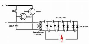 1 5v Electric Fly Zapper Circuit