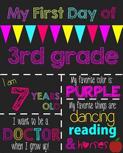 First day of school printable chalkboard sign the shady lane for First day of school sign template