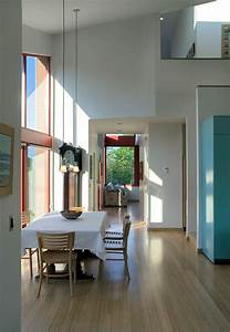 This, New, House, In, Seattle, Was, Designed, With, A, Large, Sloping, Roof, And, Double, Height, Windows