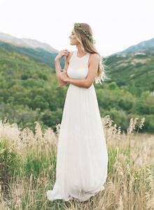 Boho Kleid Hochzeitsgast : brautkleider empire linie u ausschnitt sweep pinsel zug chiffon brautkleid mit ~ Yasmunasinghe.com Haus und Dekorationen