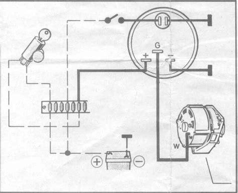 thesamba gallery bosch alternator w terminal to vdo tachometer circuit diagram