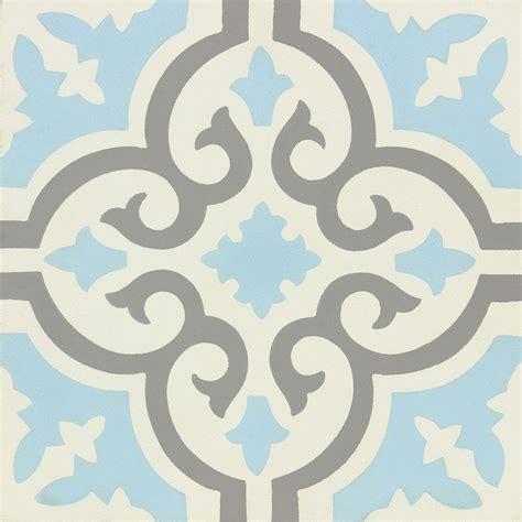 carreau de ciment 233 poque d 233 cor elise gris bleu et blanc l 20 x l 20 cm leroy merlin