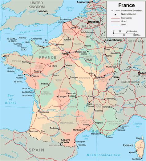 map  france departments regions cities france map