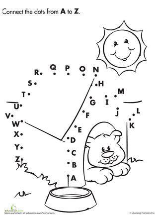 alphabet dot  dot dog house worksheets dog houses