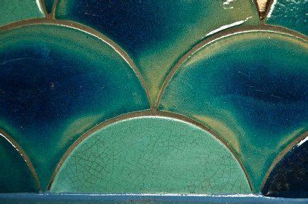 douglas watson variegated crackle glaze scallop tiles