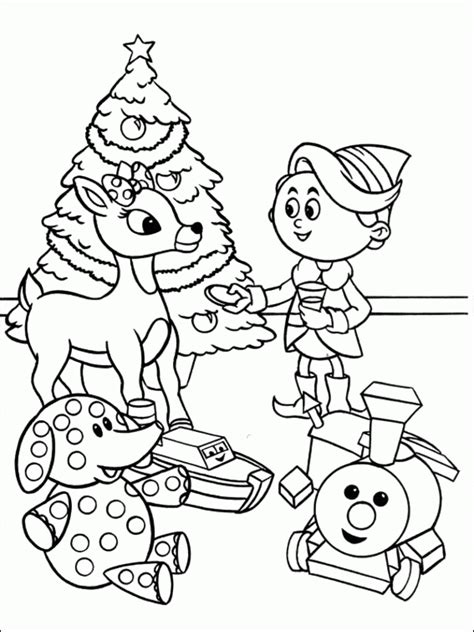 reindeer christmas coloring pages coloring home