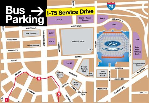 Ford Field Parking Deck Detroit Mi 48226 by Map Of Parking Near Ford Field Pictures To Pin On