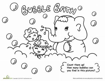 Hygiene Coloring Bubble Bath Pages Personal Worksheets