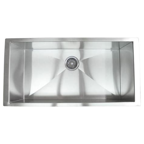 36 stainless steel sink 36 inch stainless steel undermount single bowl kitchen