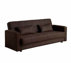 Jansen microfiber futon sofa page 1 qvccom for Qvc sofa bed