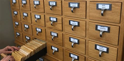 Library Card Catalog Antiques Repurposed In Genealogy Room