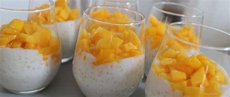 dessert mangue lait de coco tapioca au lait de coco mangue et alo 233 vera my beautiful dinner