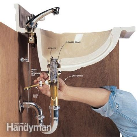 how do you unclog a sink drain how to clear clogged drains the family handyman