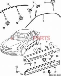 12800623  Saab Side Skirt  5d  Lh Side