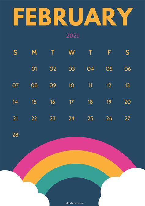 february  wall calendar printable