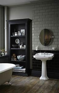 awesome salle de bain retro blanche images amazing house With meuble colonne salle de bain blanc