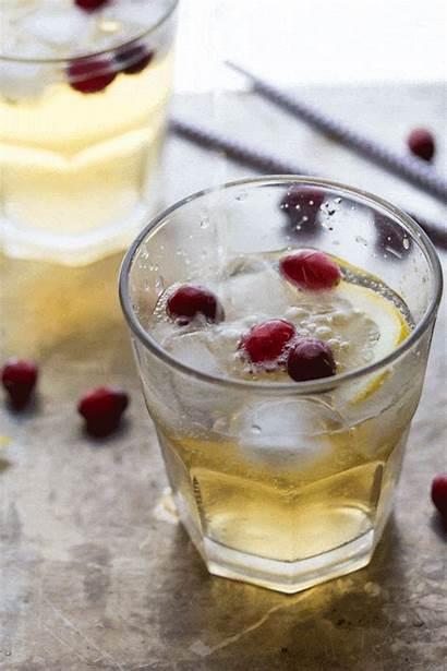 Cider Ginger Cranberry Cocktail Tgif Cranberries Utis