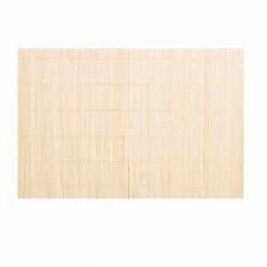 Set De Table Bambou : set de table 30x45cm bambou beige ~ Teatrodelosmanantiales.com Idées de Décoration