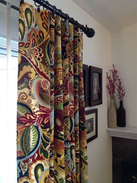 curtain panels in multi colored paisley richloom giverny