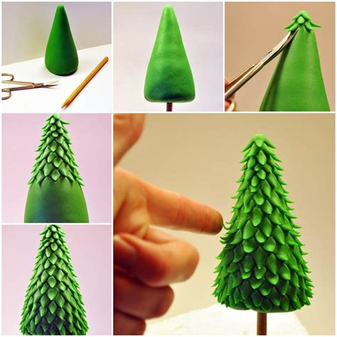 easy classy christmas tree from fondant how to diy fondant animals icreativeideas