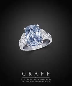 estate wedding rings 5 25 carat fancy blue cushion cut ring graff diamonds