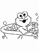 Elmo Coloring Pages Bubble Potty Bath Bubbles sketch template