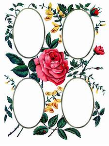 Victorian Album Page Printable - Roses