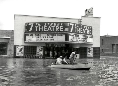 worth 1949 flood fort texas street 7th theatre ft dallas history historic tx theater shorpy flooding historical front university lee