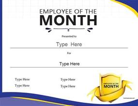 employee of the month award resume certificate free award certificate templates no registration required