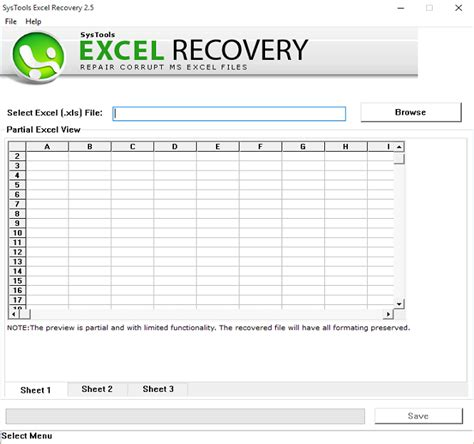 microsoft excel corrupt file recovery tool excel repair tool to fix recover corrupted ms office xls