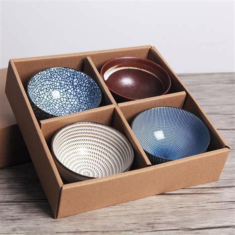 japanese bowls traditional dinnerware dinner porcelain gift rice ceramic 5inch box 300ml bowl kokoro artandinterior ciotole regalo lusso sets tableware