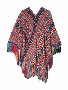 "Traditional Peruvian alpaca poncho ""Huayruros"" | Ya Market"