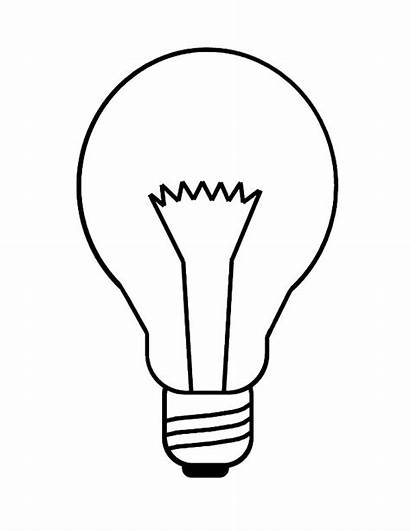 Bulb Incandescent Coloring Pages Drawing Template Templates