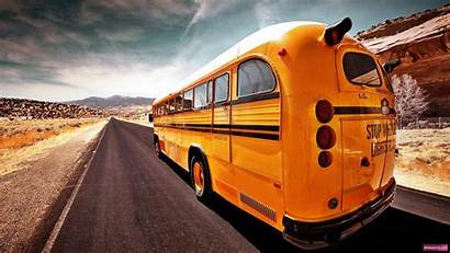Bus Wallpapers Background Backgrounds Desktop Road 1920