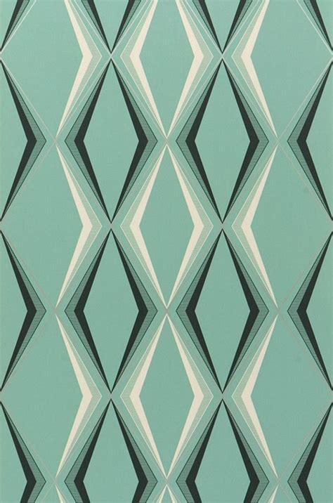 canapé couleur idée déco du papier peint géométrique