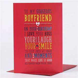 Birthday Card - Gorgeous Boyfriend | Only 89p