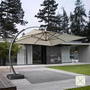 Parasol Grande Taille : parasol grande taille jardin de 3 5 m tres carr bras en aluminium copenaghen ~ Melissatoandfro.com Idées de Décoration