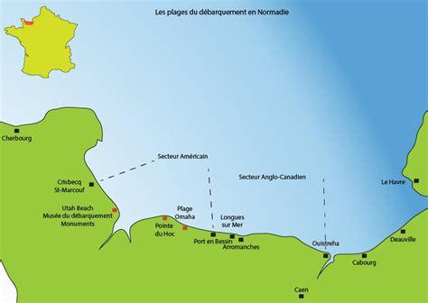 Carte De Plage Normandie by Normandie Les Plages Du D 233 Barquement