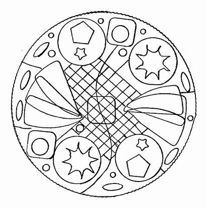 Mandala Coloring Simple Easy Mandalas Pages Adult